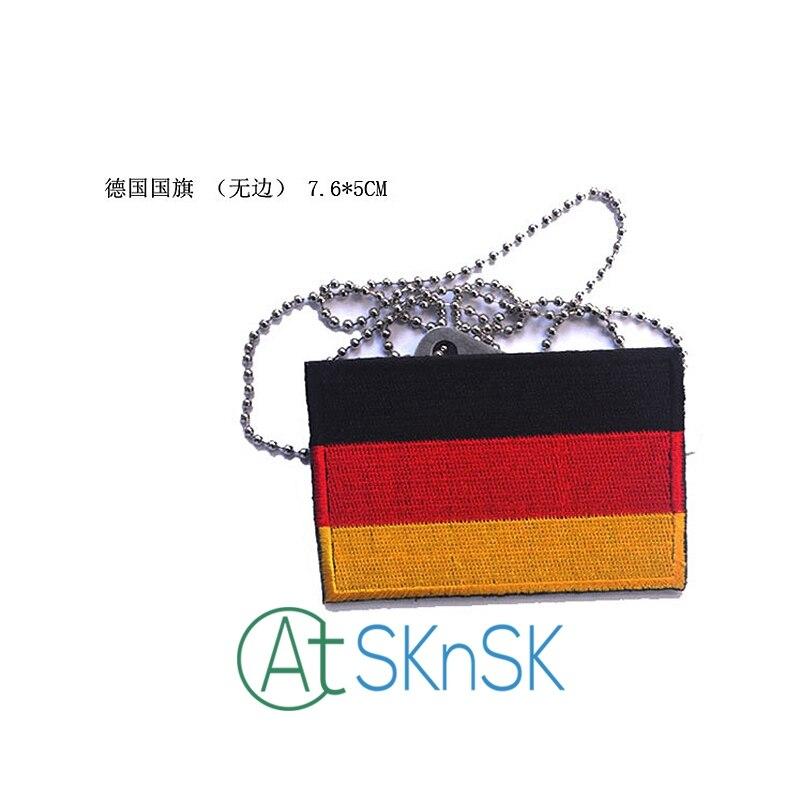 50 unids alemán insignia bordada bandera Parches Militar Tactical ...