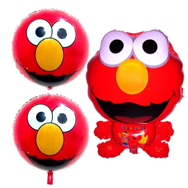 ⑦3 unids/lote Elmo globos Sesame Street foil Globos globos del ...