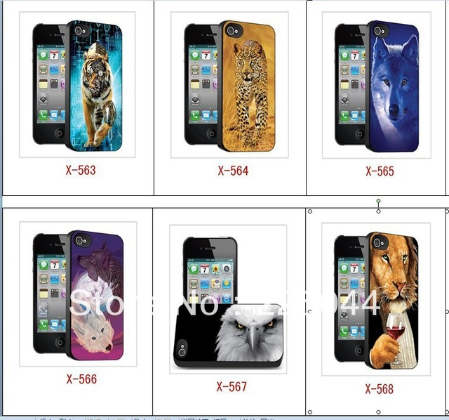 The naked eye 3d Stereoscopic Three-Dimensiona    cover for iPhone 4 4s cell phone case free Shipping 065