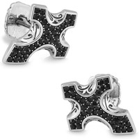 SPARTA White Gold Electroplated Teutonic Knights Austria Crysta Cufflinks
