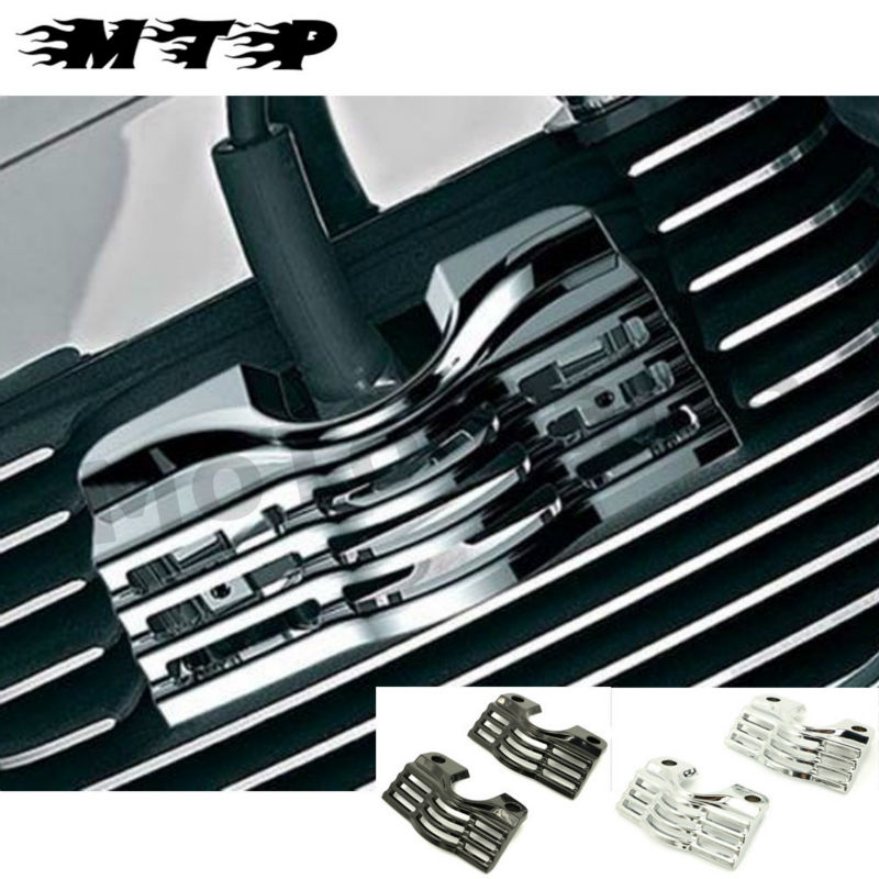 L/R FINNED SLOTTED HEAD BOLT SPARK PLUG COVERS FOR HARLEY TOURING ELECTRA STREET GLIDES ROAD KINGS 99-14 13 12 11 10 09 08 07 06 wolf garten sde 2800 evo