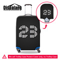 Dispalang brand travel luggage protective covers number 23 print trolley case dust cover for 18 20 22 24 26 28 30 inch suitcase