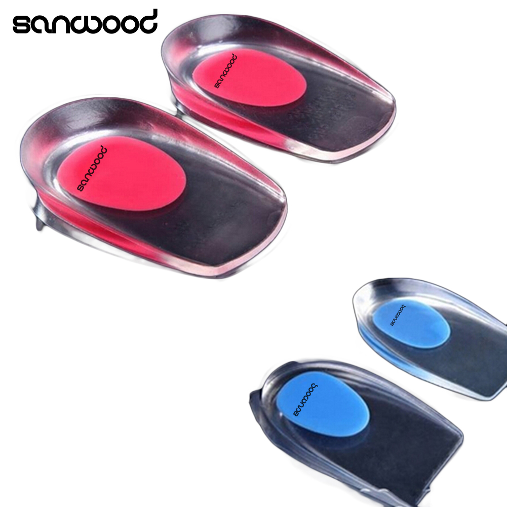 2016 New  Gel Shoes Insoles Cushion Heel Cup Massage Pads Inserts Heel Pain Spur Silicone 9IJ2 valve menstrual cup medical silicone period cup anti side leakage alternative tampon sanitary pads feminine hygiene products
