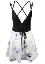 2018 New Hot Sumer Women Mini Dress Off Shoulder Flower Print