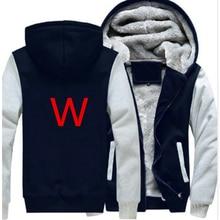 Новинка зимы для мужчин спортивный костюм с капюшоном человек мода Сгущает Бархат повседневное капюшоном теплые толстые толстовки мужской куртк