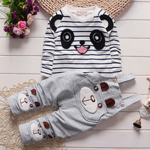 New Cotton Autumn Suit Baby Girl Clothing Set Animal Bebe Suit Warm Lovely Leisure Infant Newborn Baby spring Clothes Sets