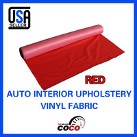 51 x 54130cm x 139cm Red Artificial Leather Vinyl Upholstery Car Boat Home Seat Deck Decora Cover