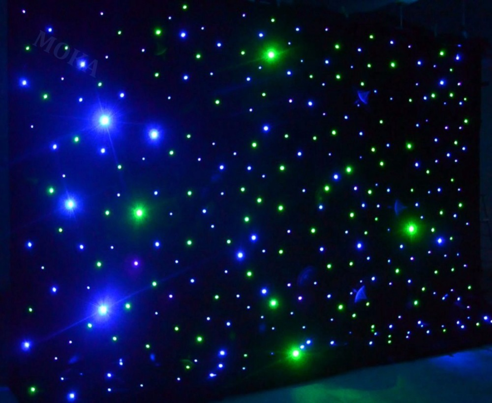 1 Pcs/lot 4m*6m(H/L) RGBY mixing LED Stage Backdrop,LED Star Cloth DMX controlled LED Curtain wall for Wedding Decoration