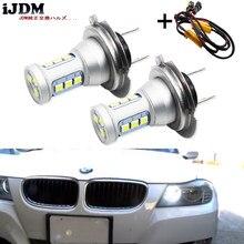 IJDM biały CANBUS H7 światła do jazdy dziennej LED dla BMW E82/E88/F20 serii 1, E90/E91 3 serii, E60/F10 5 serii, E84 X1, F25 X3