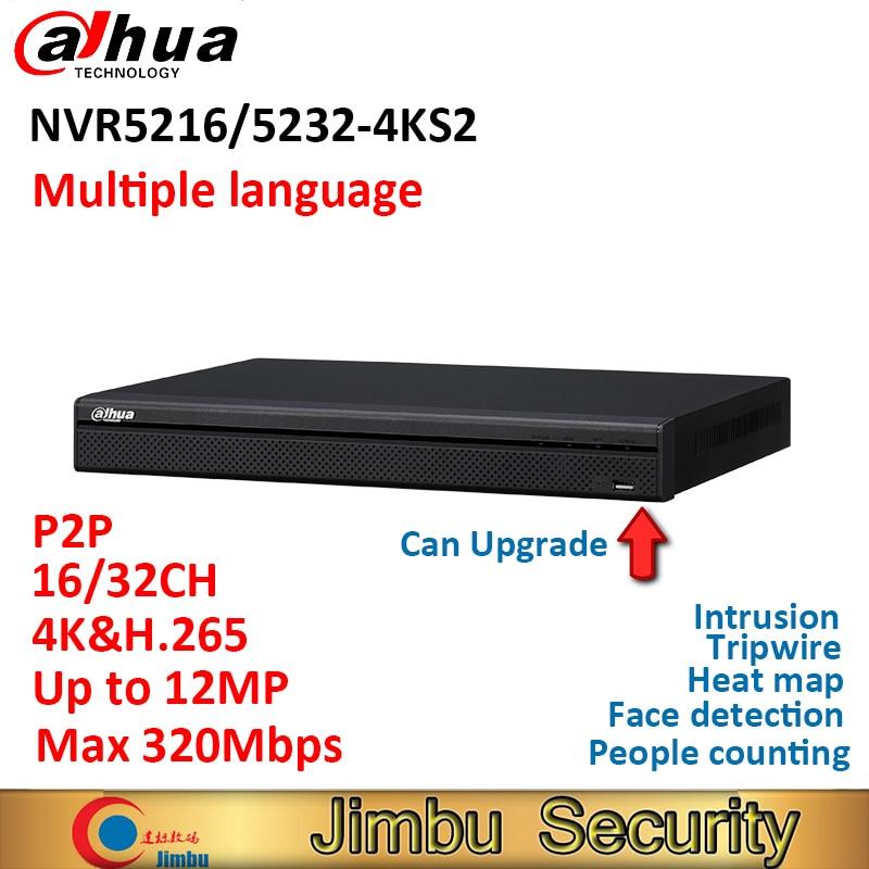 Dahua 16CH 32Ch NVR5216 4KS2 NVR5232 4KS2 4K H 265 Video Recorder P2P H 265 3D