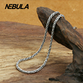 Thai Silver 2.5mm Twisted Chain Necklace New Fashion 100% Authentic 925 Sterling Silver Necklace Women Men jewelry