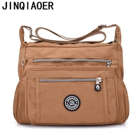 Women Messenger Bags Handbags Femal Famous Brand Bolsa Top Handle Shoulder Beach Purse Solid Nylon Zipper