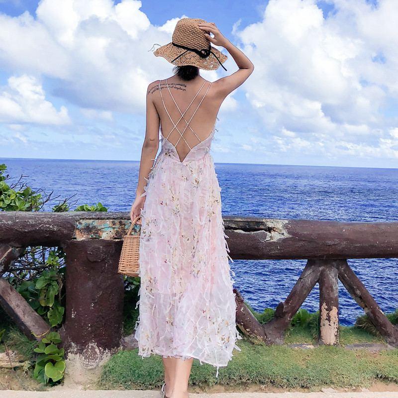 Boho V Floral Soie En Plage Robes Femmes L09 Gaine Courroie Cou Imprimé Femme Maxi Conduites 2019 Mousseline Carburant De Bohème D'été 4qtgZxw5