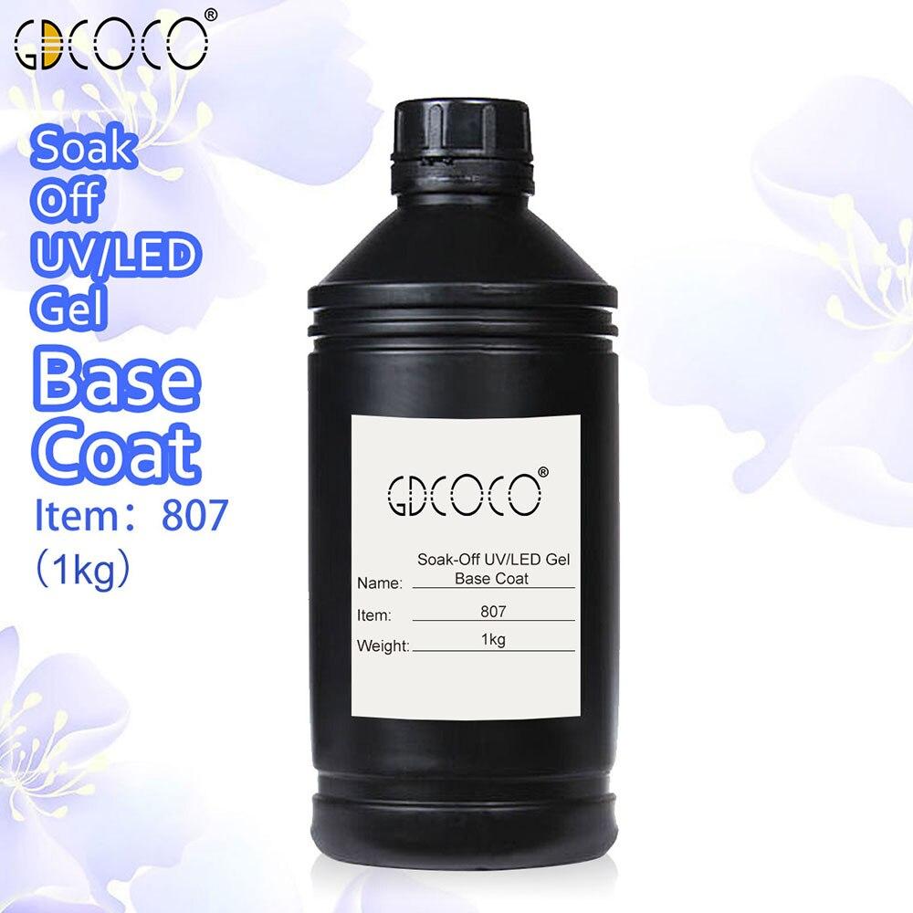 807 # Fornecimento de CANNI Embeber off LED UV Camada de Base Nowipe Acabamento Fosco Borracha Top Coat GDCOCO 1 kg Grande 1000 ml pacote de matérias-primas