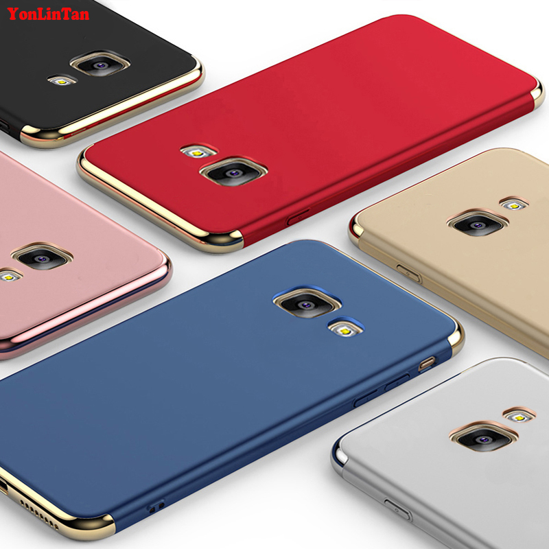 YonLinTan Coque,Case,cover For Samsung Galaxy A5 ( 2016 ) a510 Original Luxury Plating 3in1 hard Plastic Phone Protective Cases