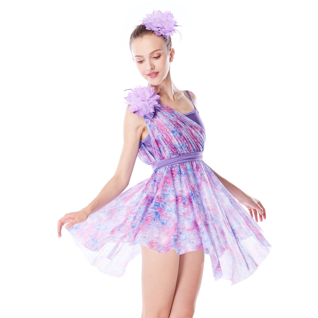 7a6299869fec MiDee Elegent Lyrical Dance Dresses For Ballroom Dancing Dress Girls Modern  Dance Dresses Gymnastics Costumes