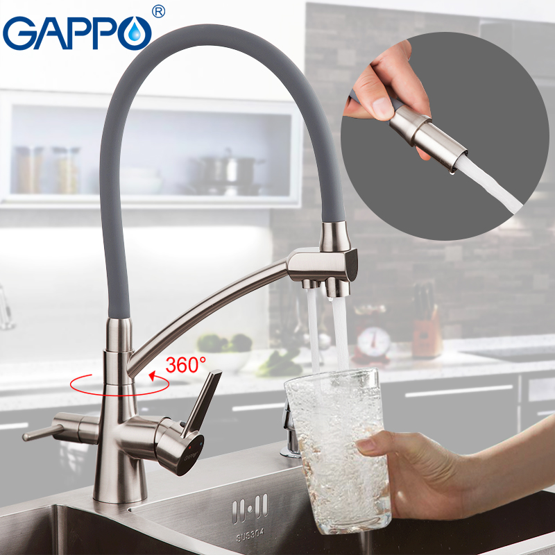 GAPPO Kitchen Faucets Kitchen Water Taps Mixer Sink Faucet Filter Faucets Taps Mixer Deck Mounted Purifier Hot Cold Water Tap