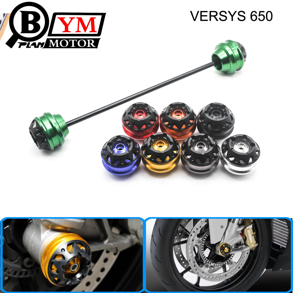 Free delivery for KAWASAKI VERSYS 650 2007-2015 CNC Modified Motorcycle Front and rear wheels drop ball / shock absorber yuvraj singh negi biopolymers for targeted drug delivery systems