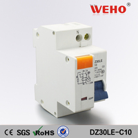 DZ30LE C10 High Quality Rcbo Residual Current Circuit Breaker 10A