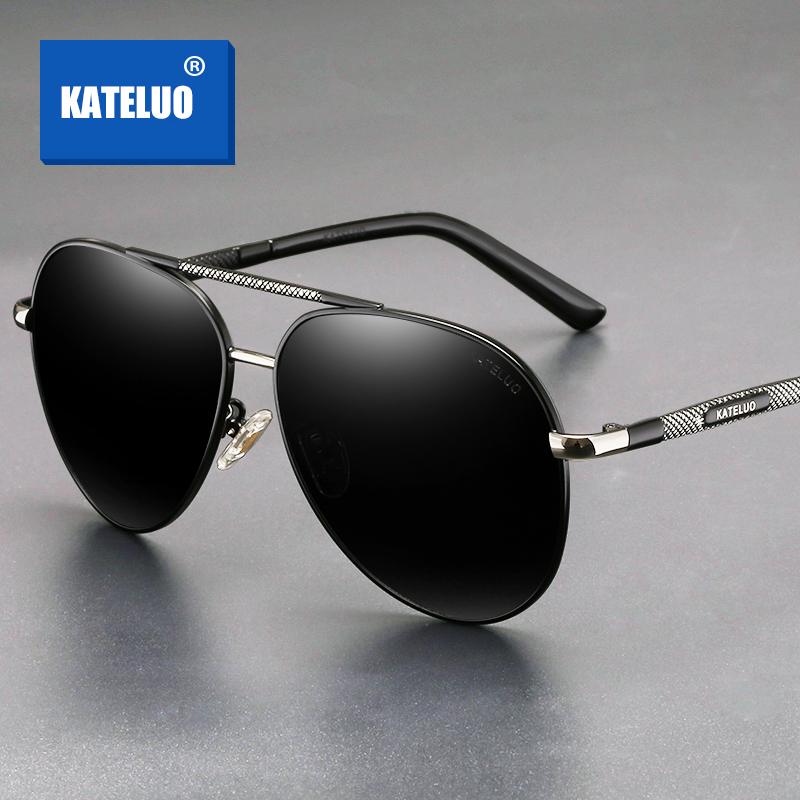 KATELUO 2020 Classic Mens Military Quality Sunglasses Polarized Lens UV400 Male Sun Glasses Pilot Glasses for Driving 6601