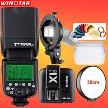 Godox TT685O 2.4G HSS 1/8000 s Cámara TTL Speedlite de Destello + X1T-O Trigger + Bowens S-type Soporte para Panasonic Lumix DSLR cámara