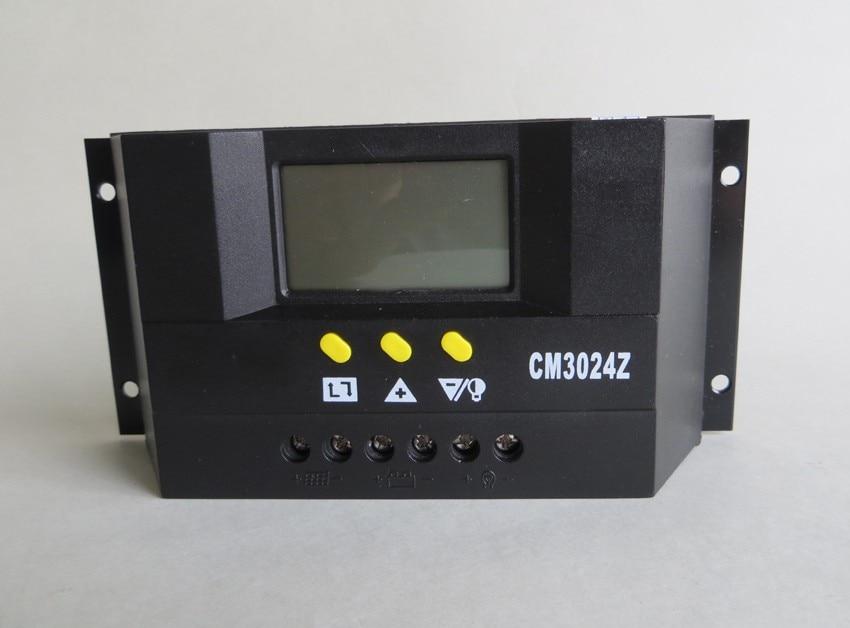 Regolatore di Carica 30A 12V//24V Juta CM3024Z per pannelli solari fotovoltaici