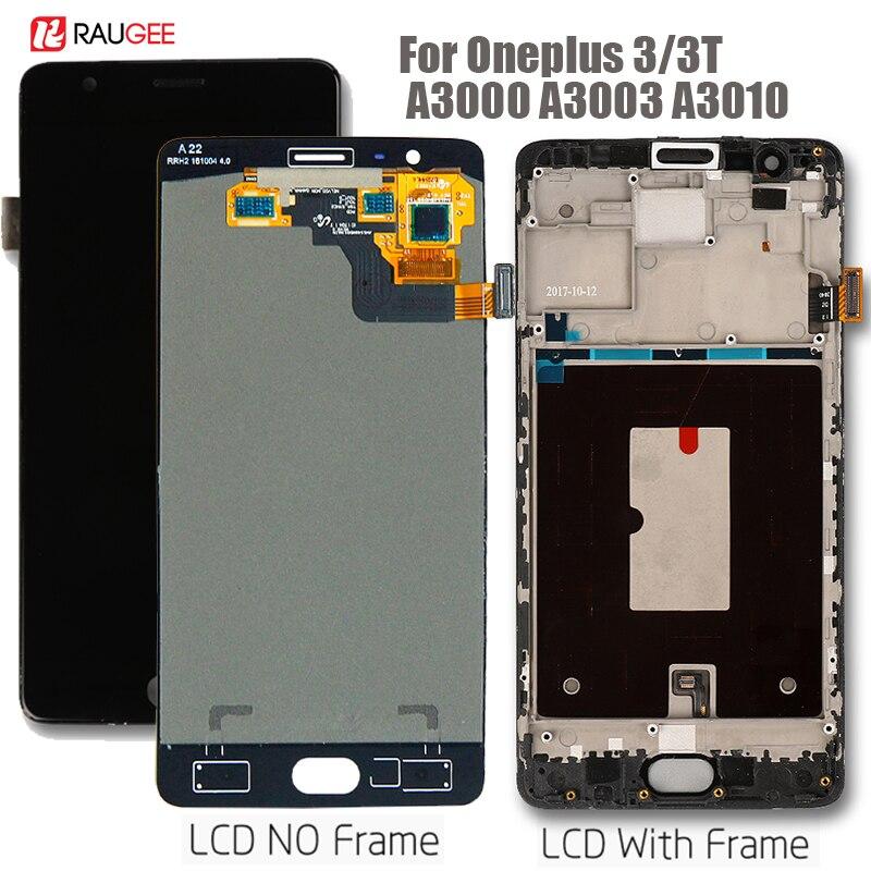 Affichage pour Oneplus 3 écran tactile lcd remplacement d'écran pour Oneplus 3 T A3010 A3000 A3003 Écran tactile avec cadre