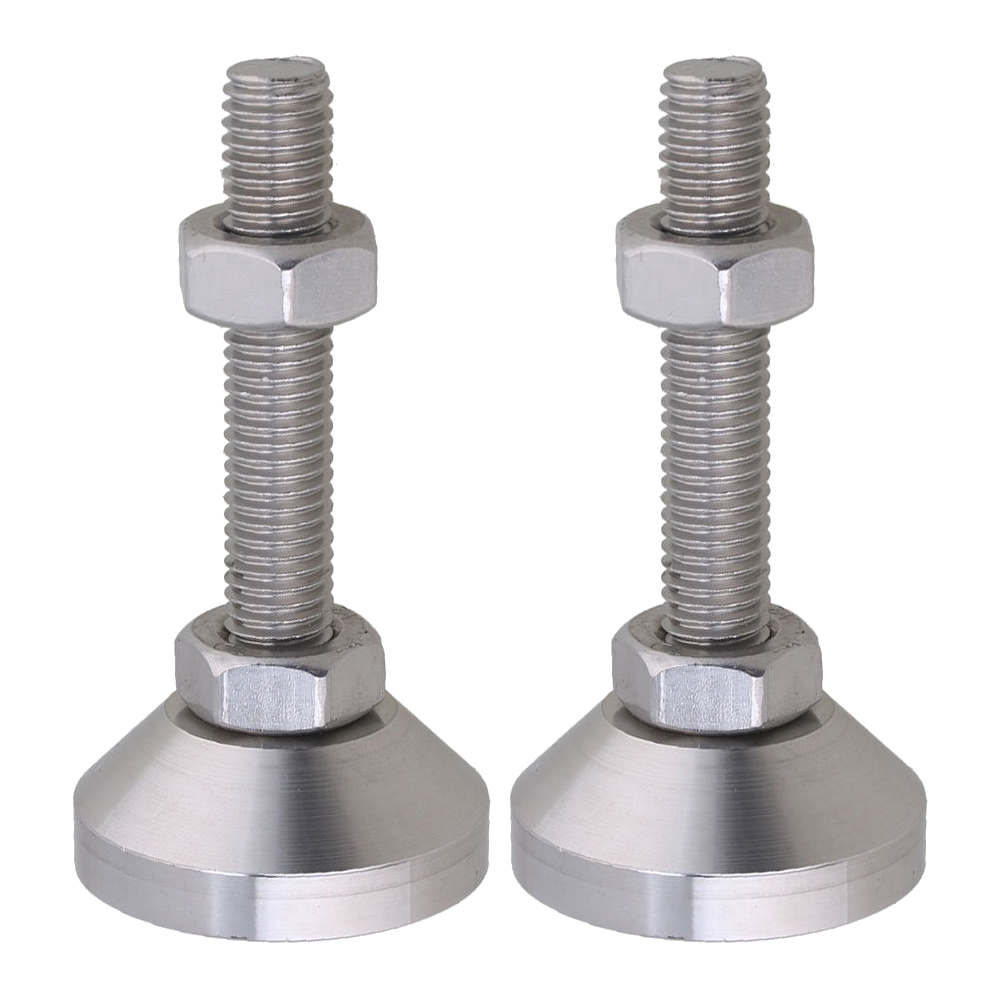 4pcs Stainless Steel 40mm Dia M10x50mm Thread Fixed Adjustable Feet For Machine Furniture Feet Pad Max Load 1Ton