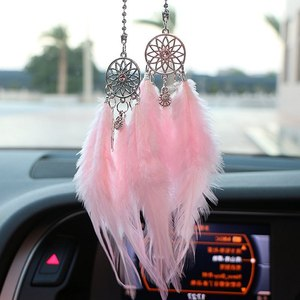 Image 4 - Car Pendant Accessories Hand woven Pendant Feather Dream Catcher Interior Decoration Pendant Style Home Wall Decoration Feather