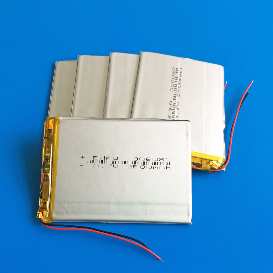 5 PCS 306082 <font><b>3.7V</b></font> <font><b>2500mAh</b></font> <font><b>Lipo</b></font> rechargeable <font><b>battery</b></font> cells for 7