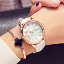 Woman's Watch Simple Leather Band Quartz Wristwatch Classic Casual Fashion Analog Watch Women Watches Reloj цена