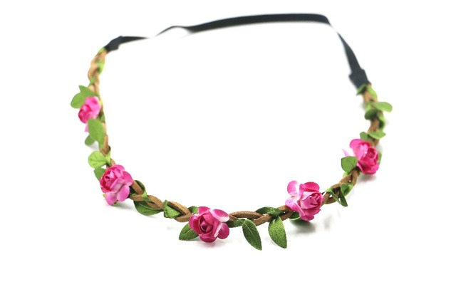 2017 flower headband hot pink flower floral crown garland halo 2017 flower headband hot pink flower floral crown garland halo beautiful wreath mightylinksfo