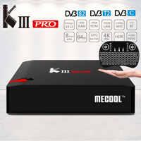 Mecool KIII Pro K3 Pro DVB-T2 DVB-S2 DVB-C Smart TV Box Android 7.1 Amlogic S912 4 k Set top Box satellietontvanger PK C400 Plus