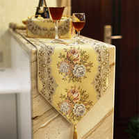European table flag luxurious embroidered table runner Simple and high-end overseas gifts cafetera francesa tafellopers vintage