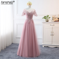 Новое поступление A line свадебные вечерние платья для выпускного вечера De Festa вечерние платья темно розовые платья подружек невесты в платья