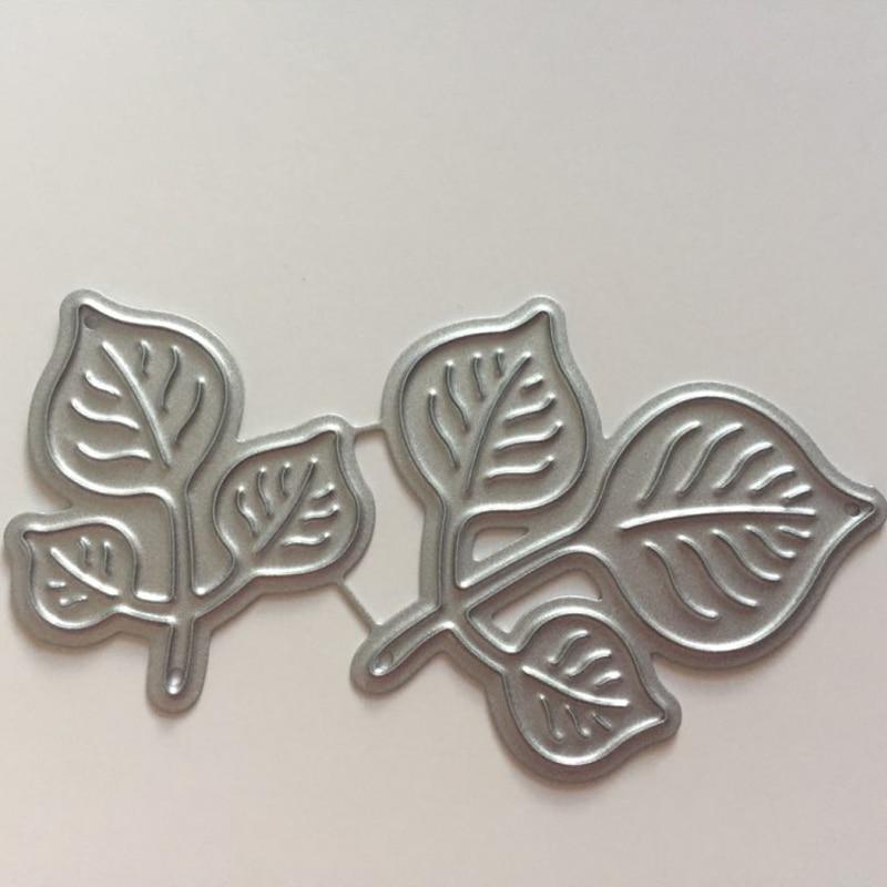 Leaves Metal Cutting Dies For DIY Scrapbooking Photo Album Paper Card Making Decorative Craft Dies Cut 61*45mm Embossed Plate