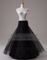 Long Tulle Wedding Petticoat Black A Line Cheap Bridal Underskirt Enaguas Para Vestidos De Novia