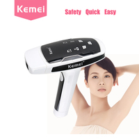 KEMEI Depilador A Laser Black Laser Hair Removal Machine Photon Hair Removal Device Female Photon Laser Facial Lazer Epilasyon