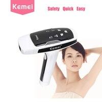 Kemei depilador Лазерный черный лазерная эпиляция машина Фотон устройство удаления волос женский фотон лица лазером Lazer epilasyon