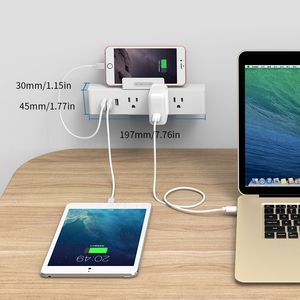 Image 4 - NTONPOWER MNC Wall Mounted USB Power Socket US Standard Electrical Plug 3 AC Outlet 3 USB Smart Charging Ports with Phone Holder