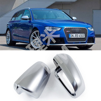 Matt Chromed For Audi A3 8P A4 A6 B7 2002 2008 Rearview Mirror Side Door Mirror Wing Mirror Cover Replacement Car Accessories