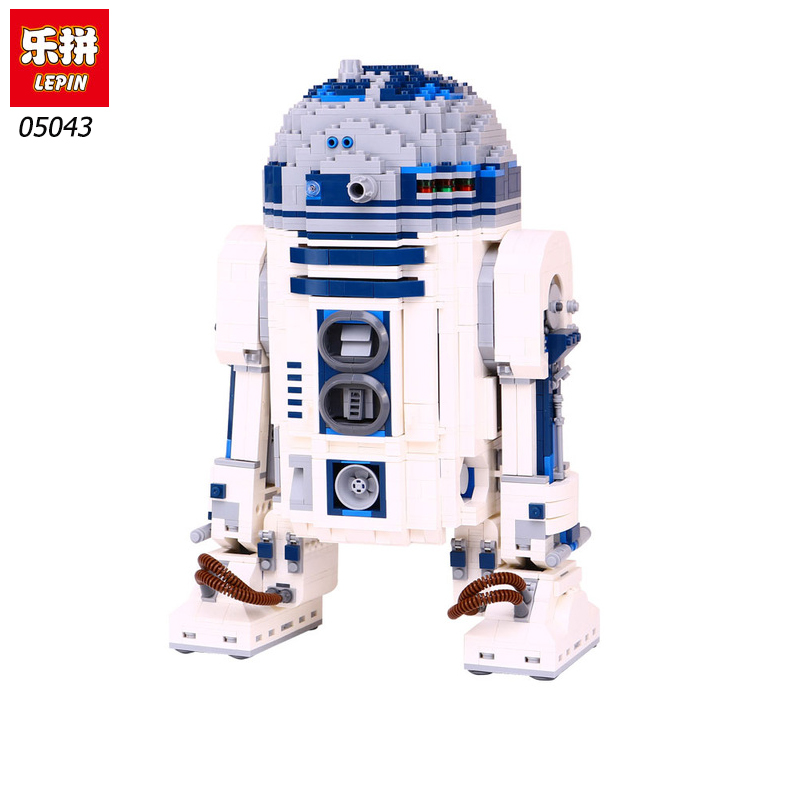 DHL Lepin 05043 Star Genuine The R2 Robot Set D2 Out of print Wars Building Blocks Bricks Toys legoinglys 10225 Birthday gifts lepin 05043 2127pcs genuine the r2 model d2 robot set out of print building blocks bricks legoinglys 10225 birthday gifts