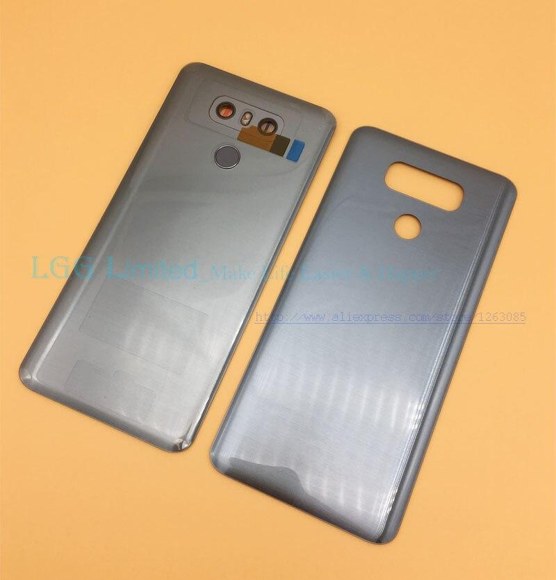 OEM Neue Zurück Glas Abdeckung für LG G6 H870 H871 H872 H873 LS993 Batterie Abdeckung Hinten Tür Gehäuse mit touch id + kamera Objektiv