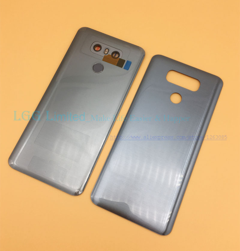 OEM New Glass Back Cover for <font><b>LG</b></font> <font><b>G6</b></font> H870 H871 H872 <font><b>H873</b></font> LS993 Battery Cover Rear Door Housing with touch id + Camera Lens image
