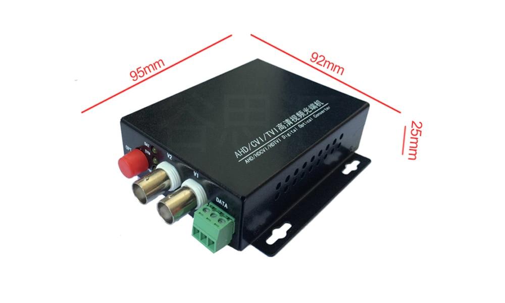 1080P HD CVI AHD TVI 2-канальны канвертар - Камунікацыйнае абсталяванне - Фота 3