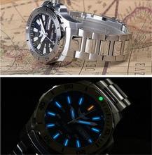 Mannen Automatische Horloge 25 Juwelen Tritium Licht T100 ETA2836 Beweging Diver Horloge WR300M