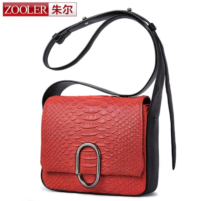 ZOOLER Brands Mini Flap Bags Crossbody Bag Genuine Cow Leather Clutch Bag Metal ring Women bolsa feminina Shoulder Messenger Bag