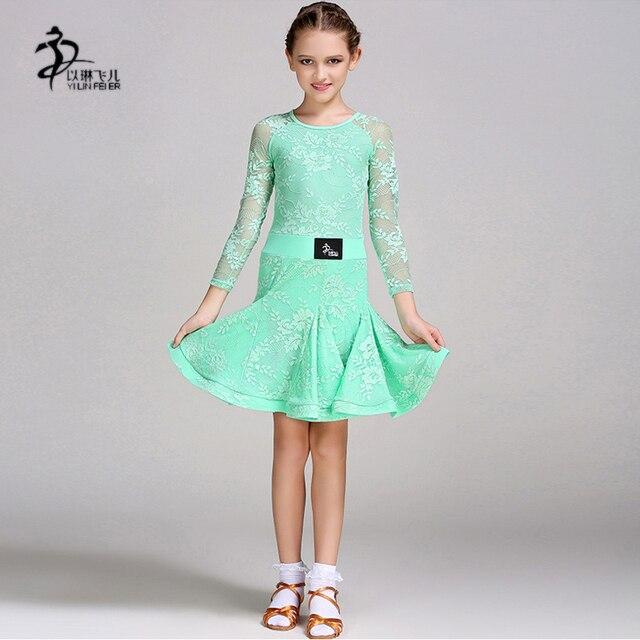 0ccceb933 2017 Childrens Latin Salsa Ballroom Dance Dress Girls Dancewear ...