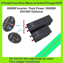 6000W inverter generator , inverter 6000W 48V 24V , DC to AC pure sine wave inverter charger with UPS function LCD RS232