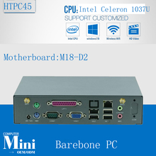 Smallest Win7 HTPC / Thin Client / Mini ITX PC Support ATOM/1037U/Bay Trail series processor  1*VGA/SUPPORTS WIFI/3G Barebone PC